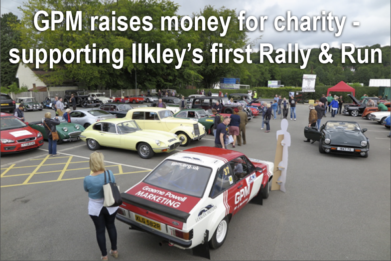 GPM RAISES MONEY FOR CHARITY – SUPPORTING ILKLEY'S FIRST RALLY & RUN